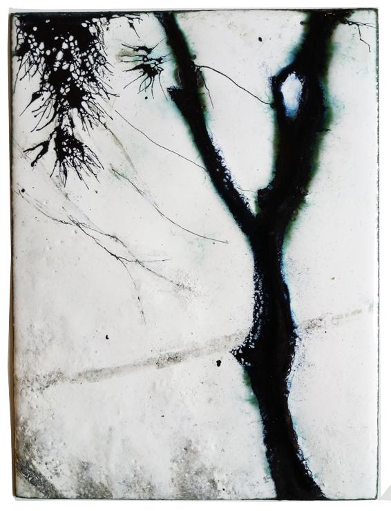 Tableau émaillé de l'ombre et du vent