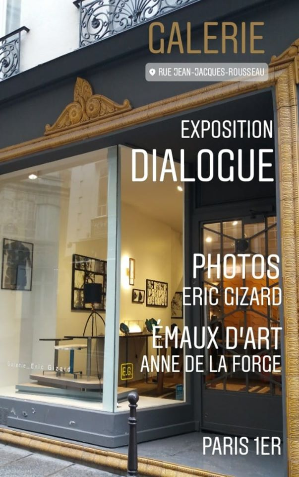 photo extérieure de la galerie éric gizard à paris 75001 - exposition dialogue