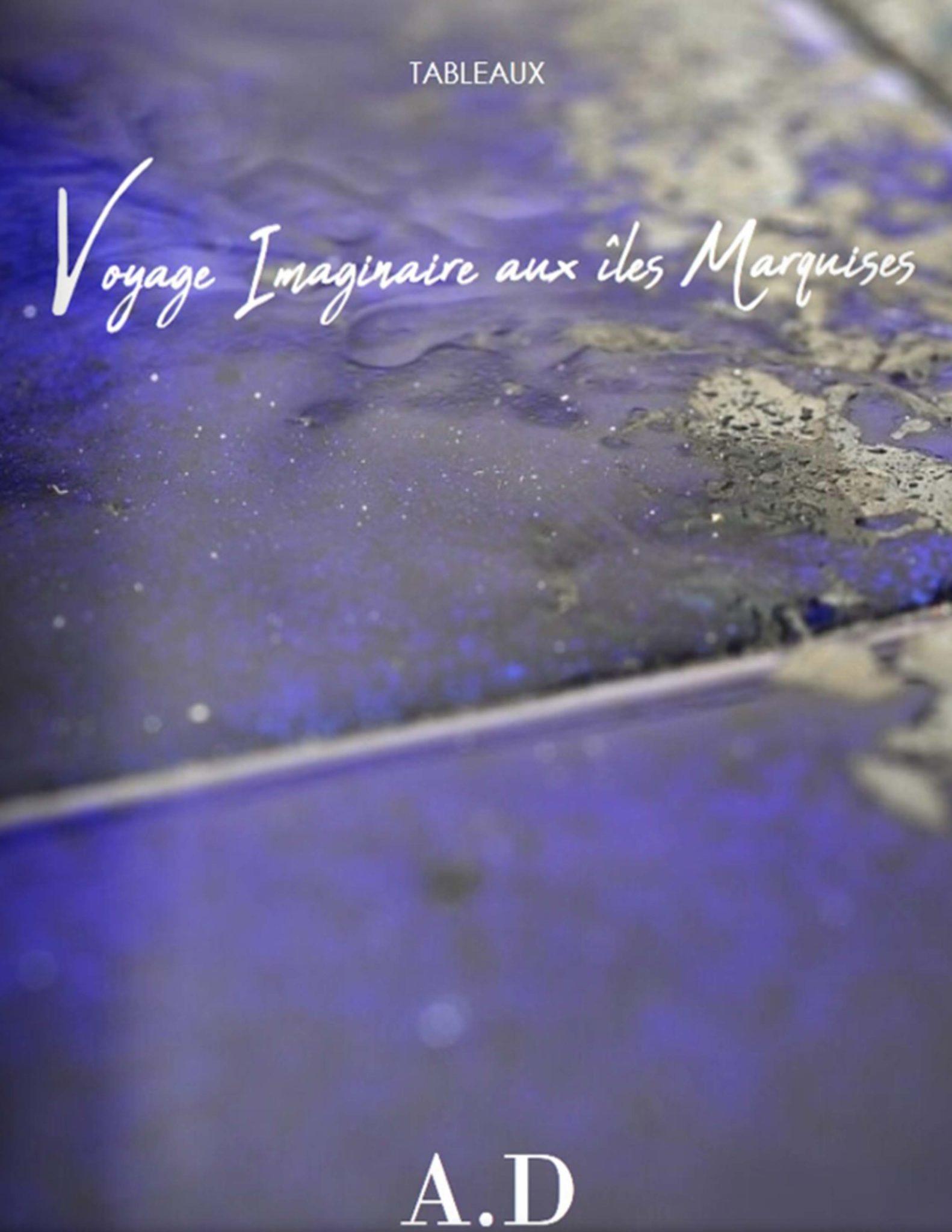 Catalogue de tableaux la collection Voyage Imaginaire aux Iles Marquises. Plaques de cuivre émaillées avec des émaux joailliers.