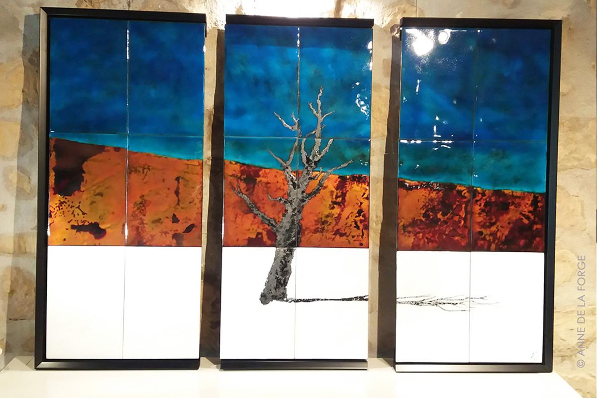 Création sur mesure d'un triptyque d'après une photo du désert de Namibie