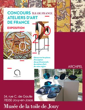 Exposition au Musée de la Toile de Jouy des créations des lauréats 2020 du concours régional d'ïle de France du musée de Jouy en Josas