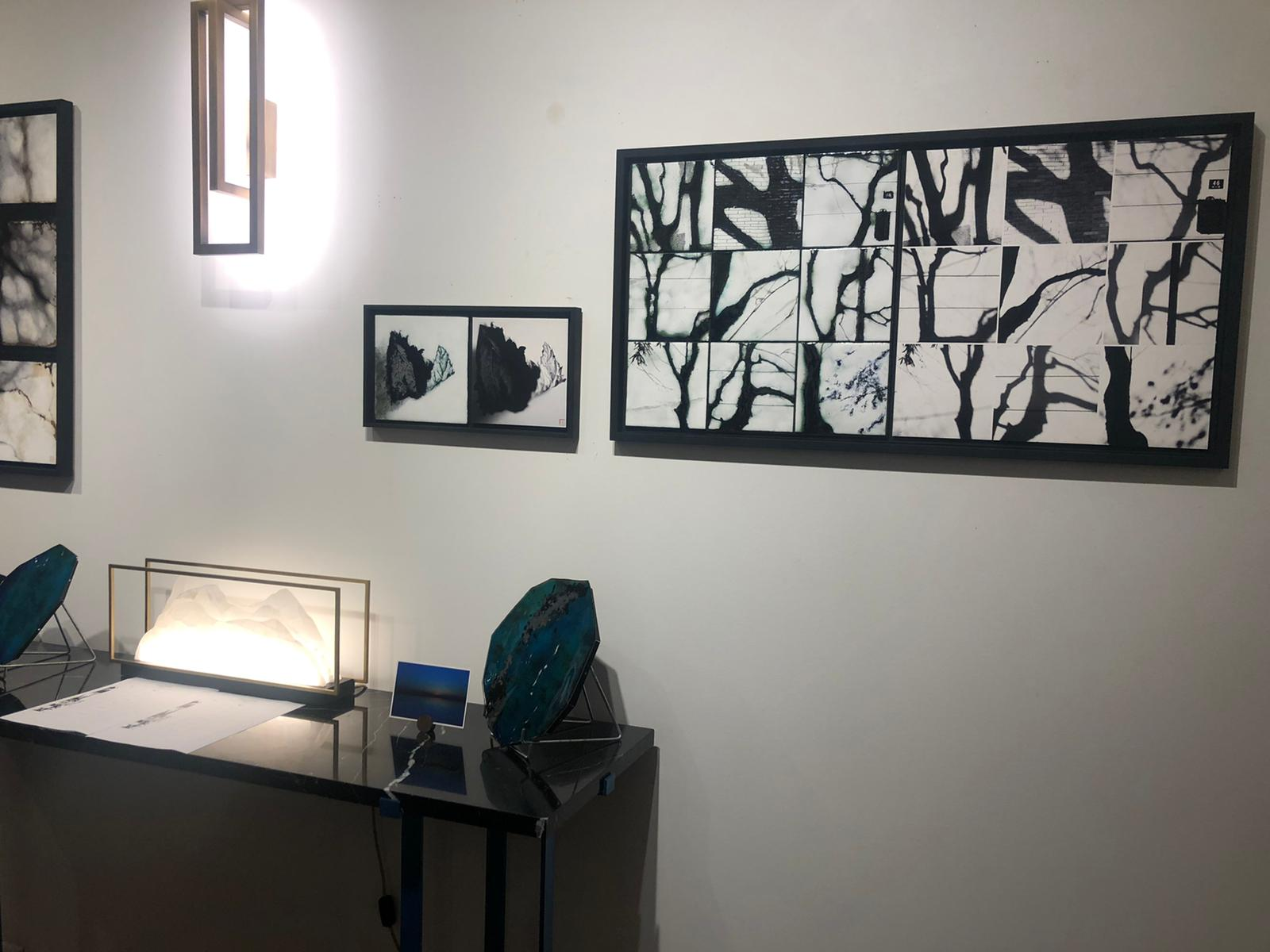 Aperçu de 2 tableaux dans la galerie - La feuille et la composition des 9 ombres d'arbres