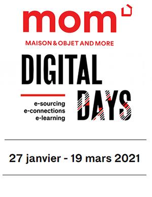 digital days de maiosn et objet sur la plateforme MOM