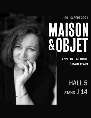 affiche Maison et Pobjet septembre 2021 Anne de La Forge